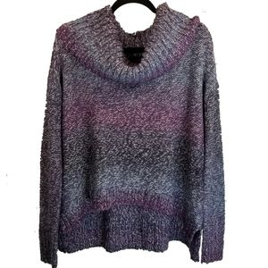 AEO Cowl Neck Oversized Gradient High Low Sweater
